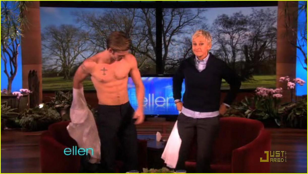 alex pettyfer loses his shirt for ellen 042514829