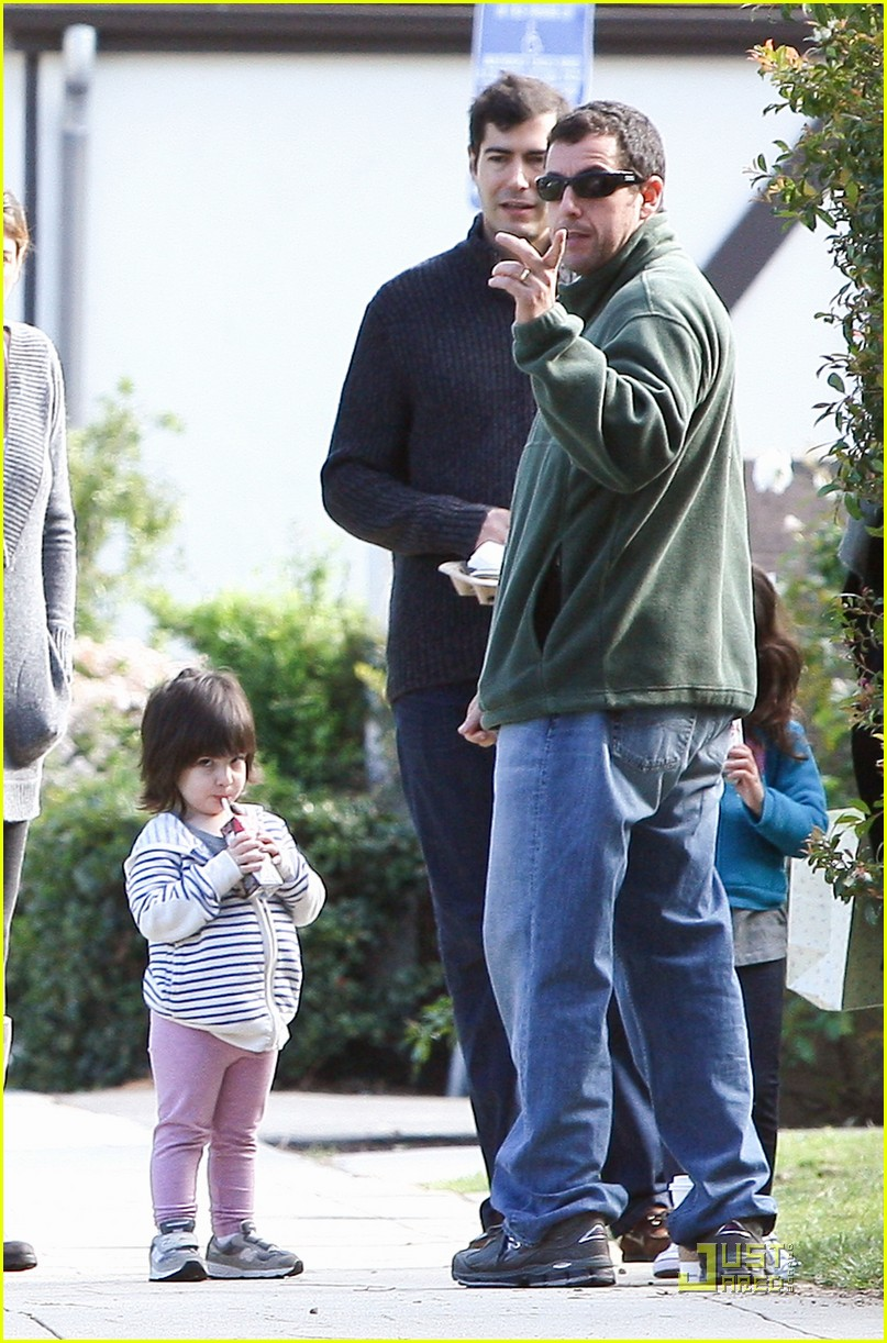 adam sandler strolling with sadie sunny 122509649