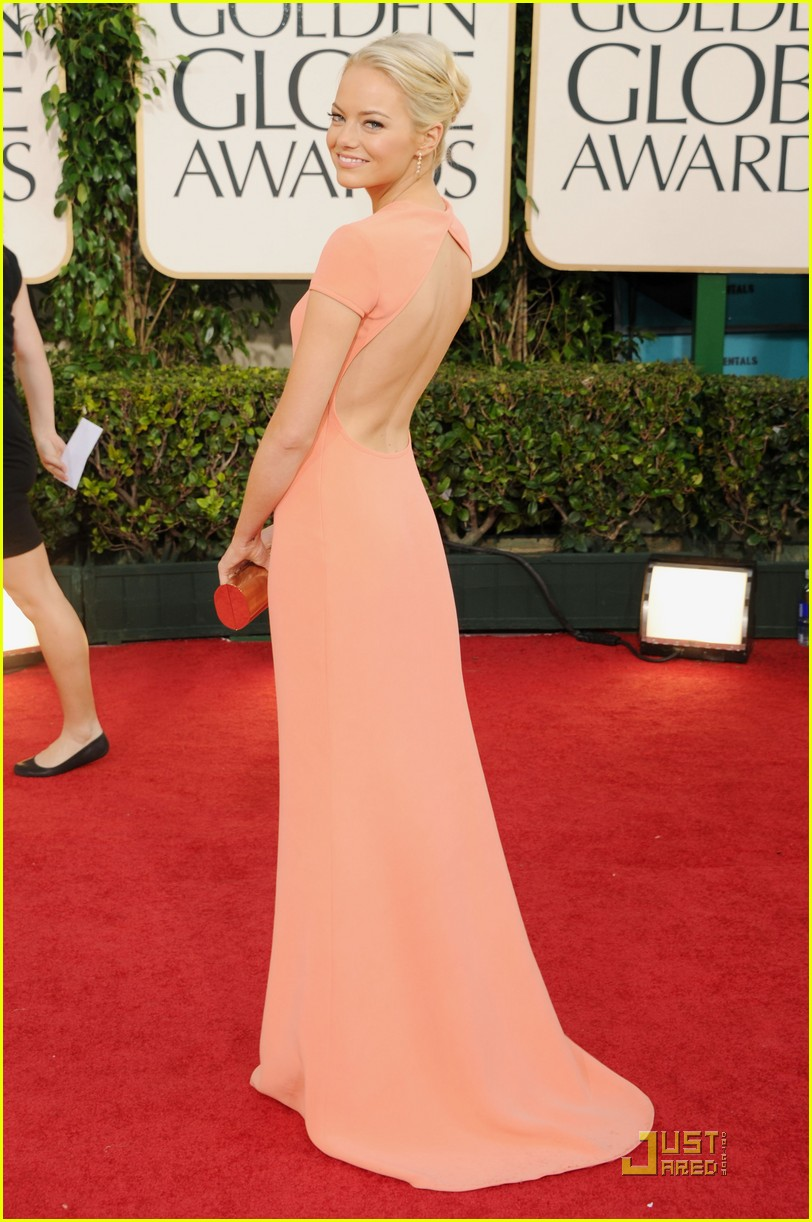 emma stone 2011 red carpet golden globe awards 092511943