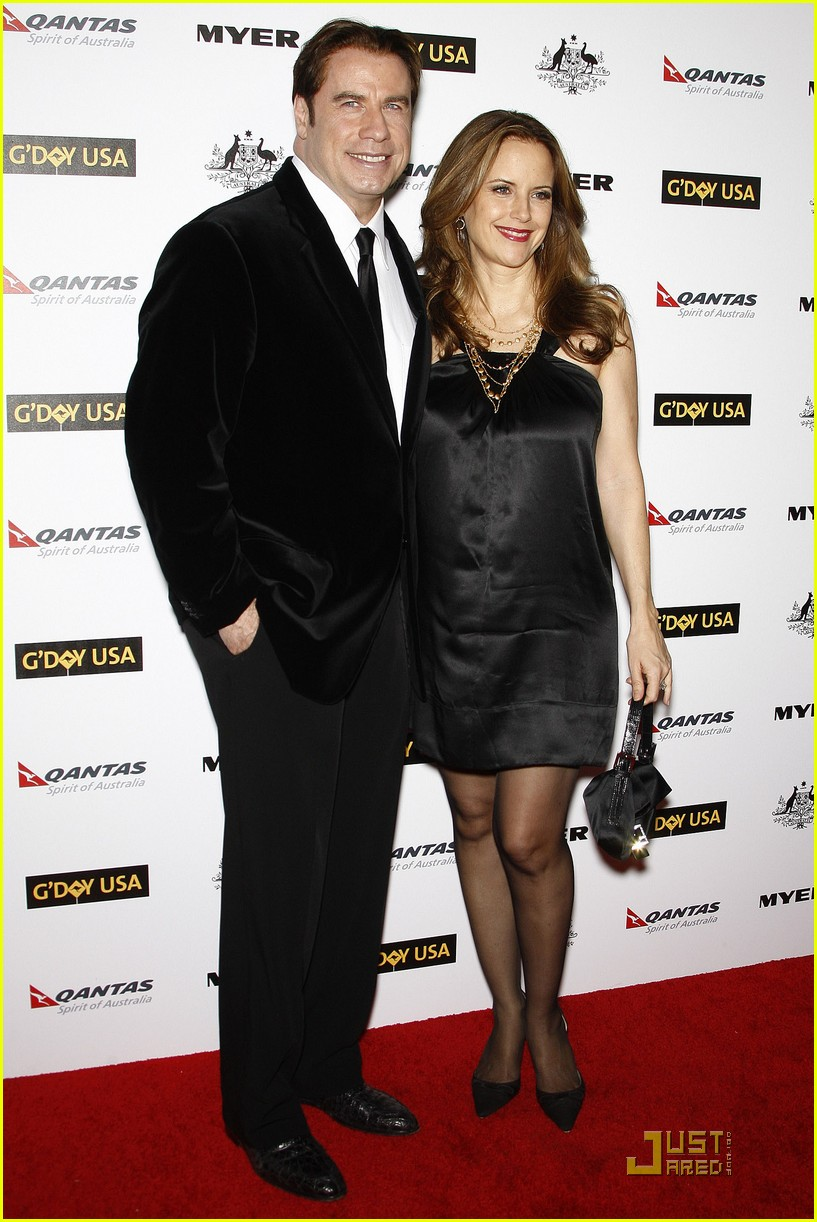 john travolta kelly preston gday gala 01
