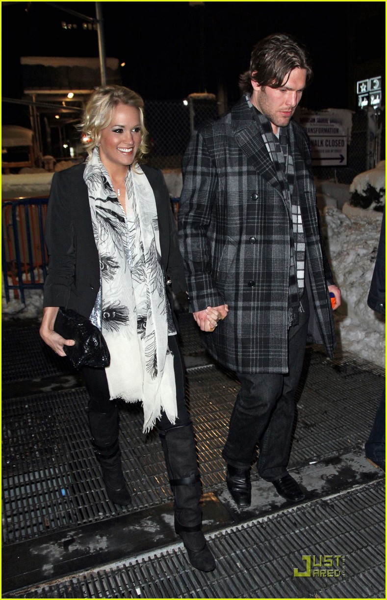 carrie underwood mike fisher knicks game nyc 012514790