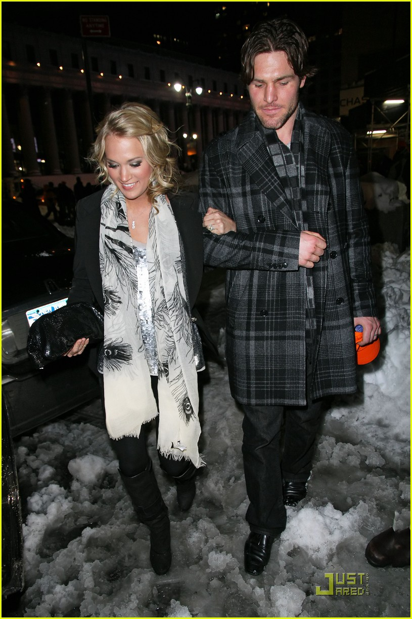 carrie underwood mike fisher knicks game nyc 032514792