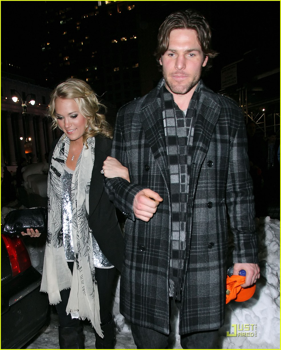 carrie underwood mike fisher knicks game nyc 05