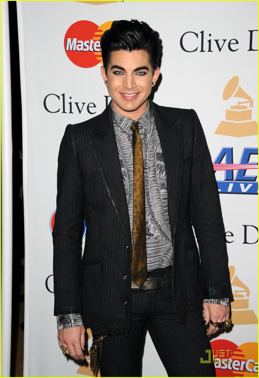 adam lambertpre grammy gala salute to industry icons 062518956