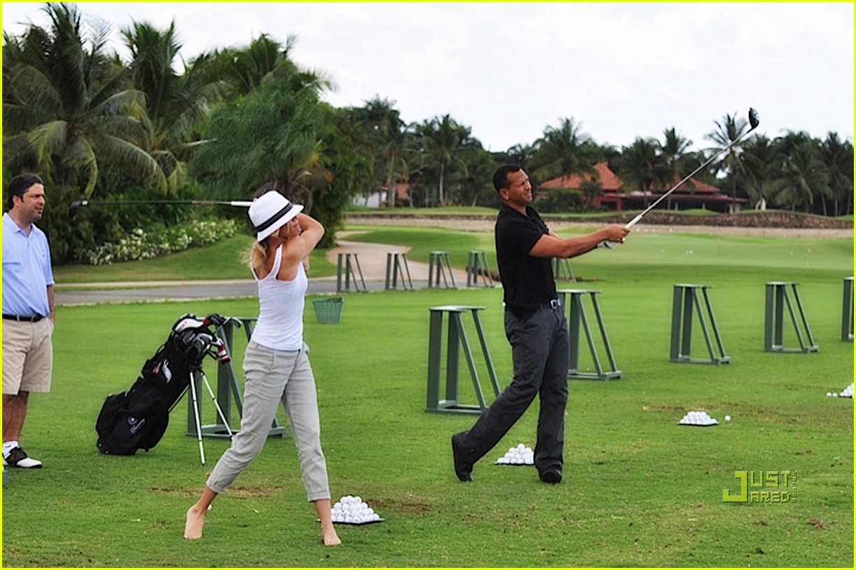 cameron diaz alex rodriguez golfing dominican republic 03