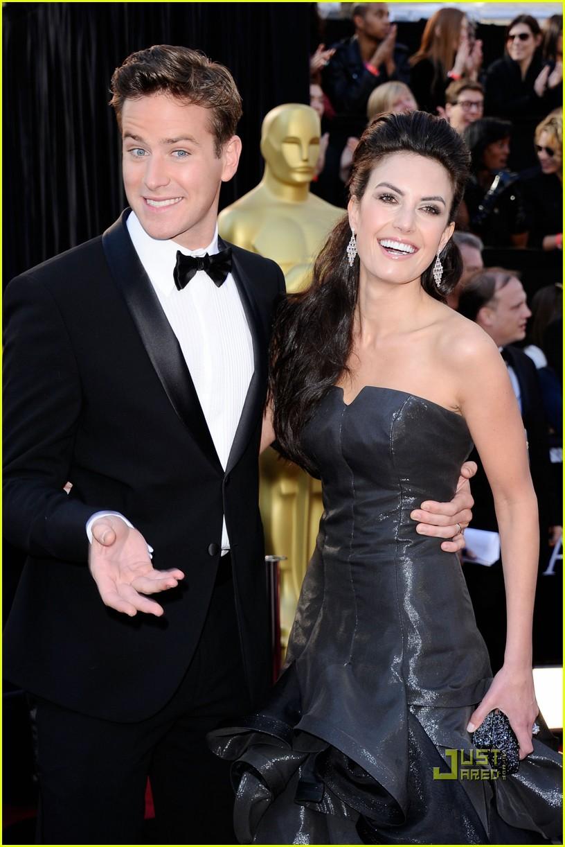 Armie Hammer Amp Elizabeth Chambers Oscars 2011 Red Carpet