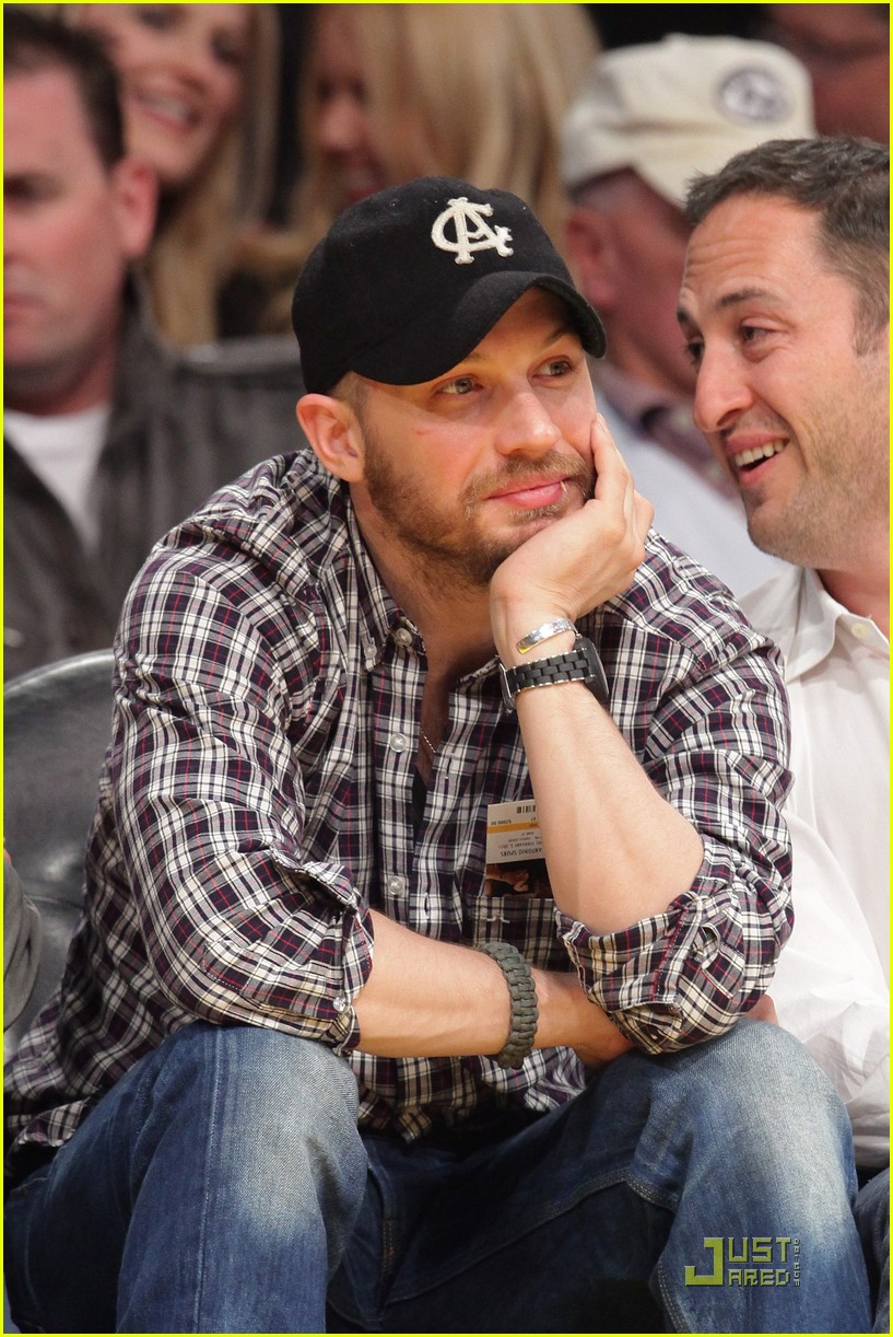 tom hardy lakers game 062516755