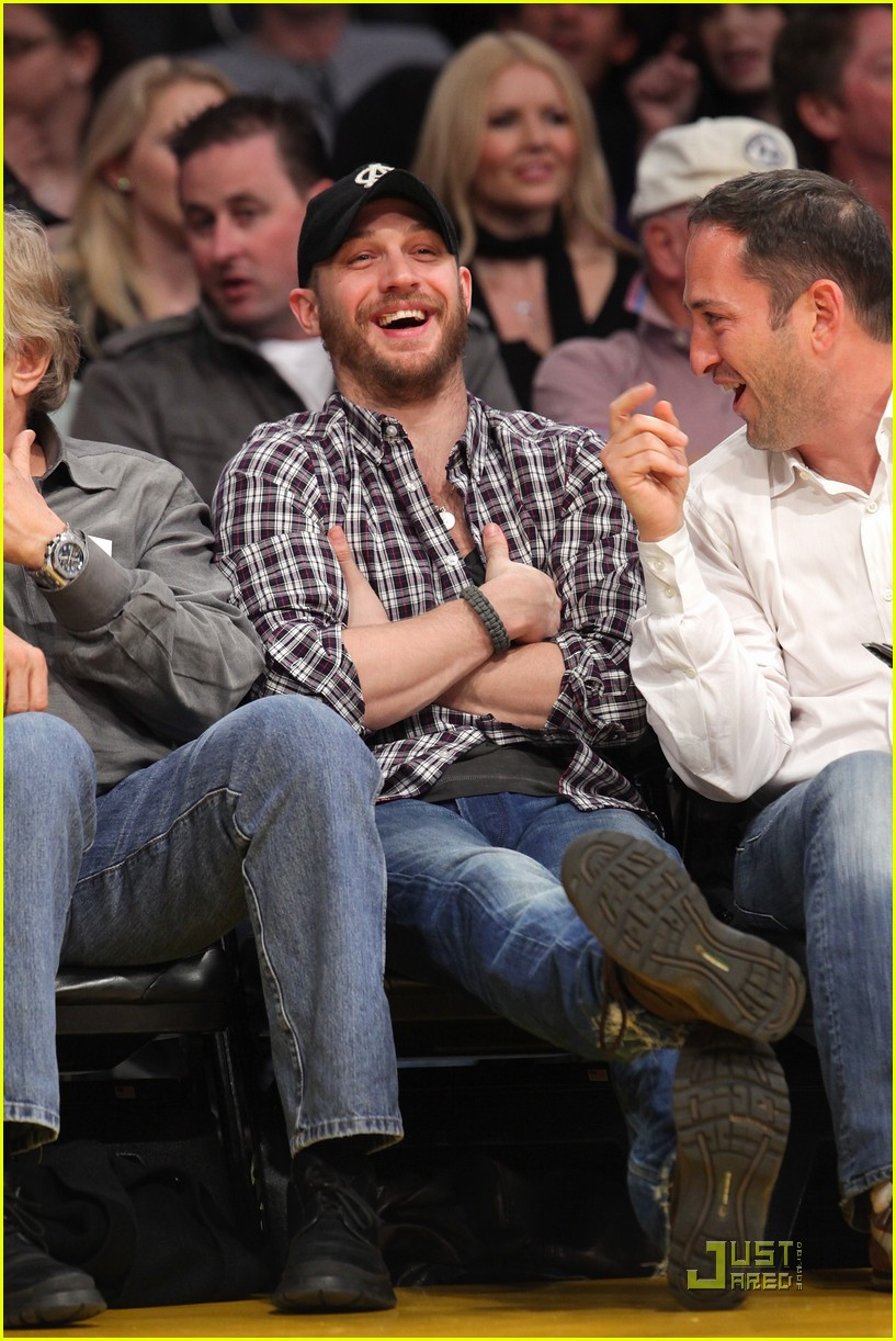 tom hardy lakers game 072516756