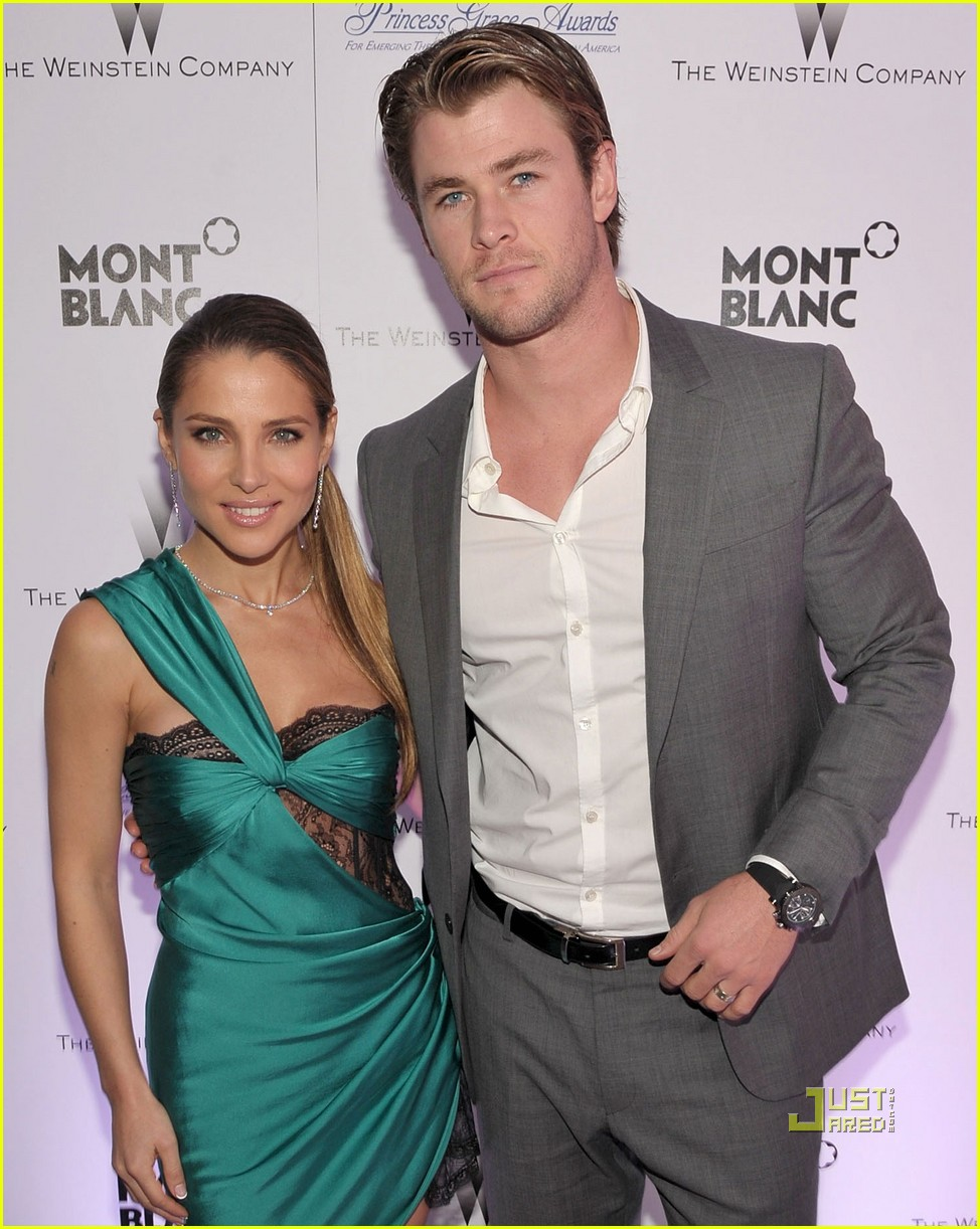 chris hemsworth elsa pataky weinstein party 01
