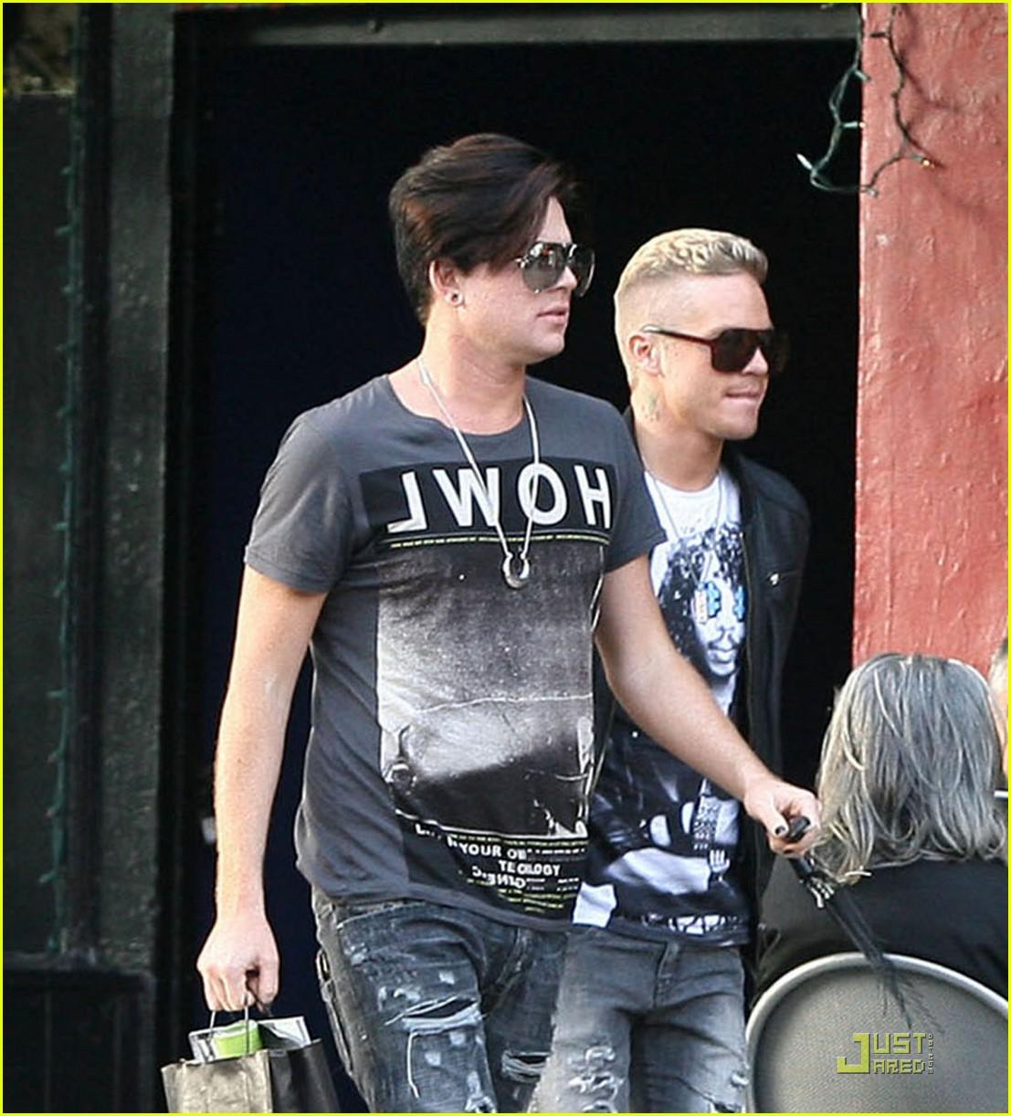 Adam Lambert Strolling With Sauli Koskinen Photo