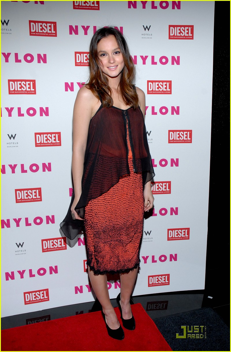 Leighton Meester: 'Nylon' Cover Dinner Party!: Photo ...