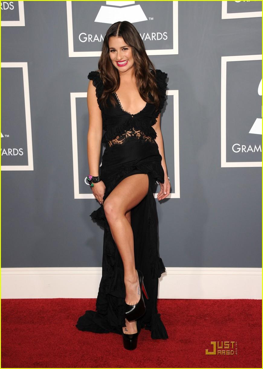 Lea Michele Grammys 2011 Red Carpet Photo 2519448