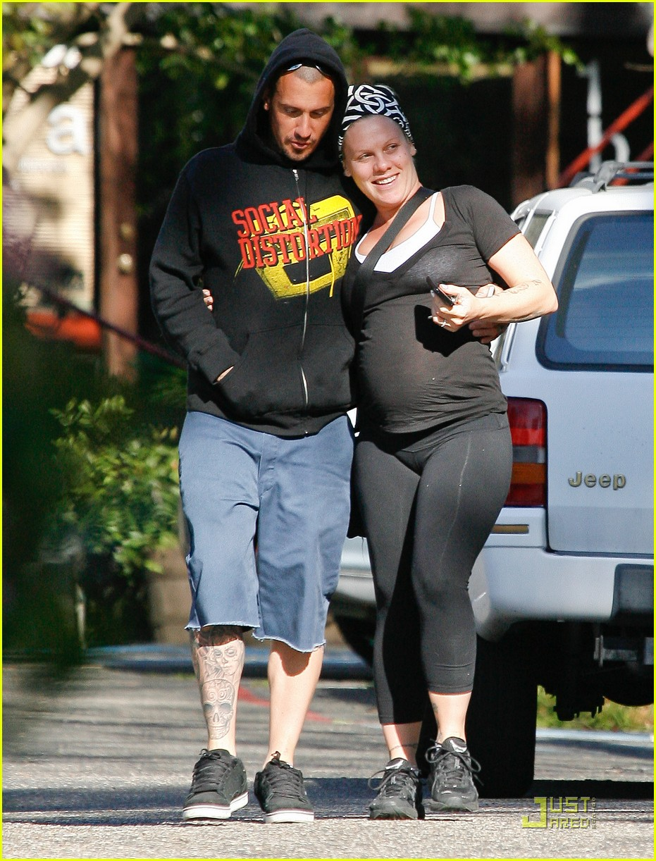 Pink Baby P Stroll With Carey Hart