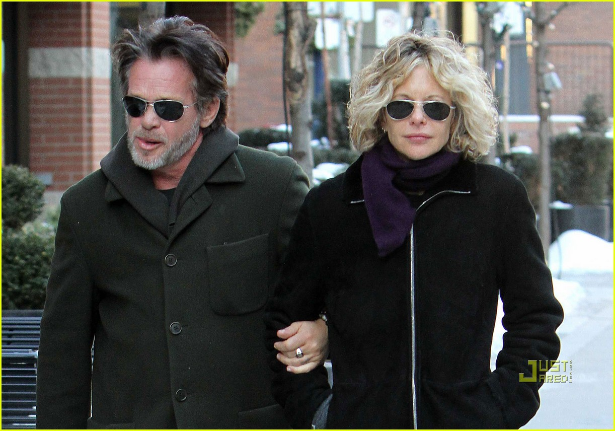 Meg Ryan with friendly, Boyfriend John Mellencamp