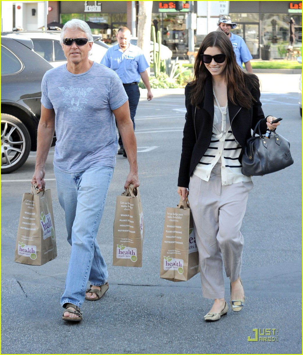 Photo of Jessica Biel & her Father  Jonathan Edward Biel