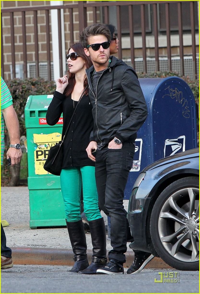 ashley greene st patricks day with jared followill 07