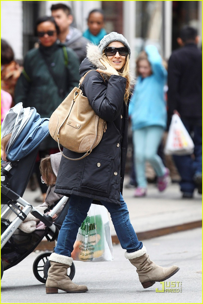 sarah jessica parker twins grocery shopping 102529673