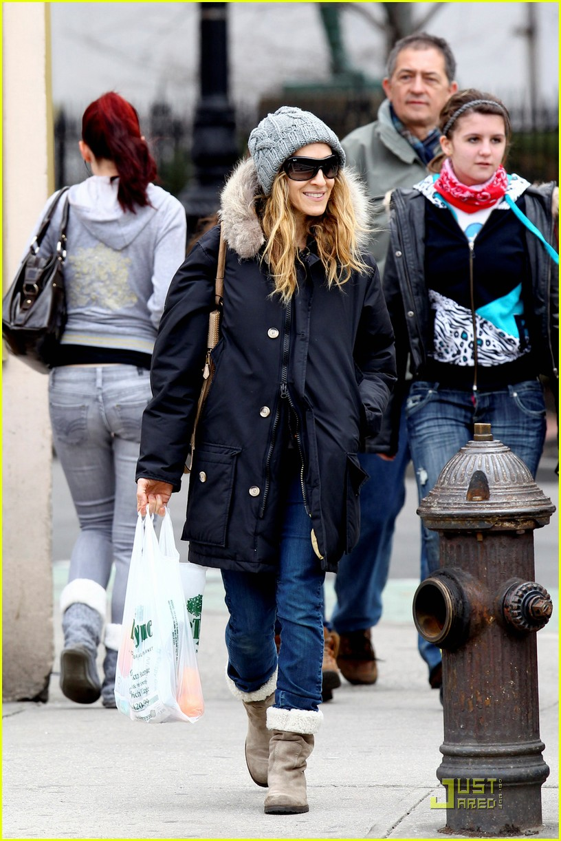 sarah jessica parker twins grocery shopping 11