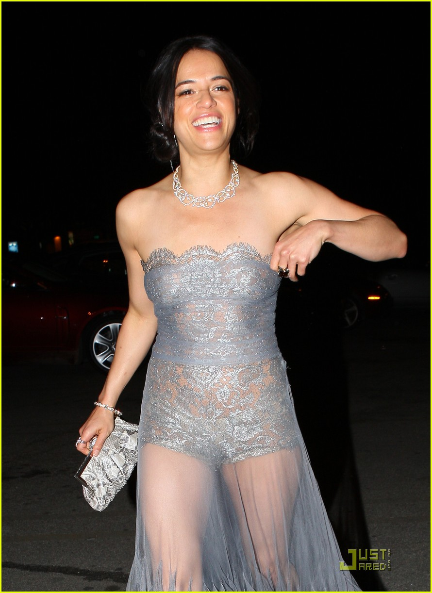 Michelle Rodriguez: Sheer Dress for Oscar After Party!