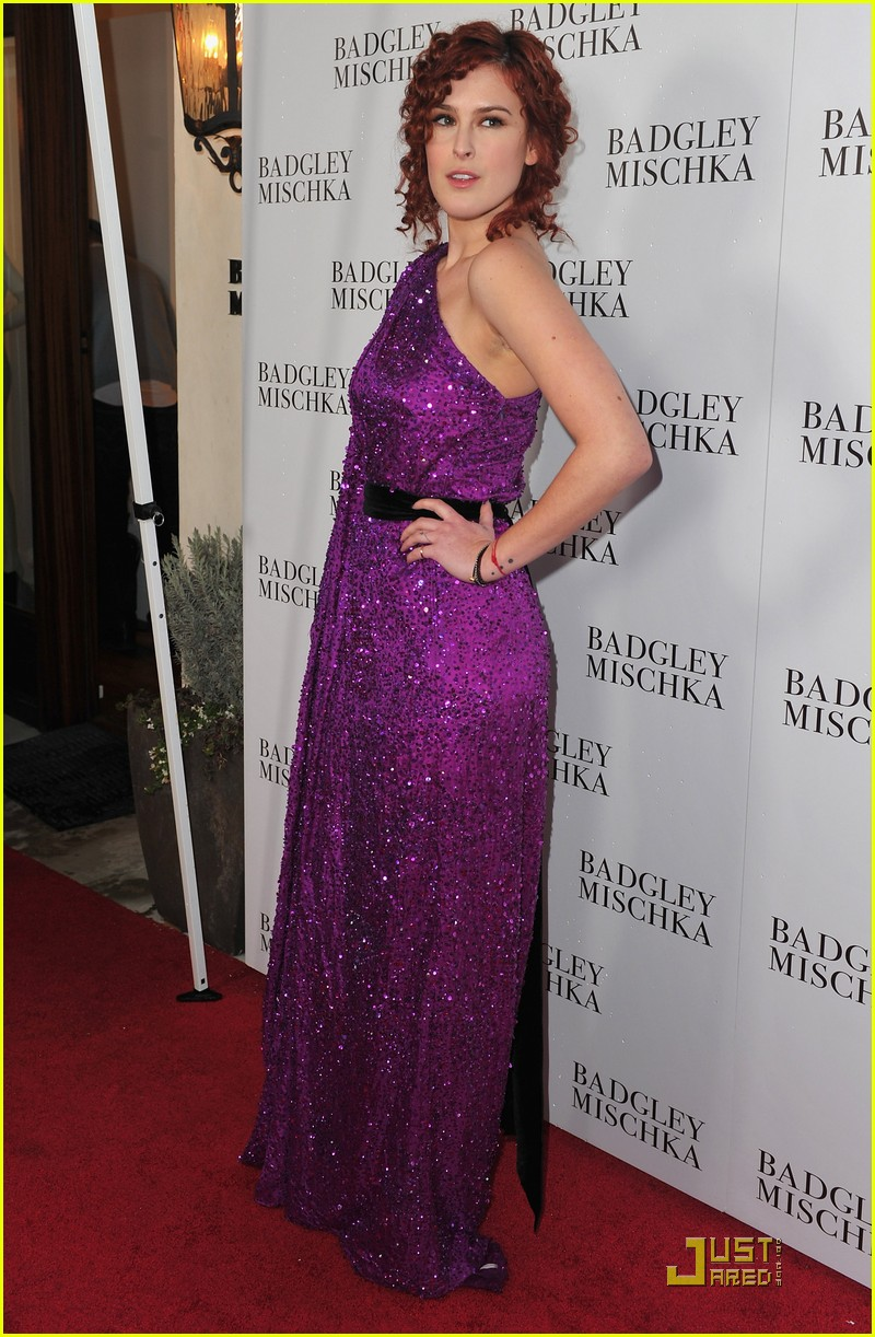 rumer willis badgley mischka flagship opening 03