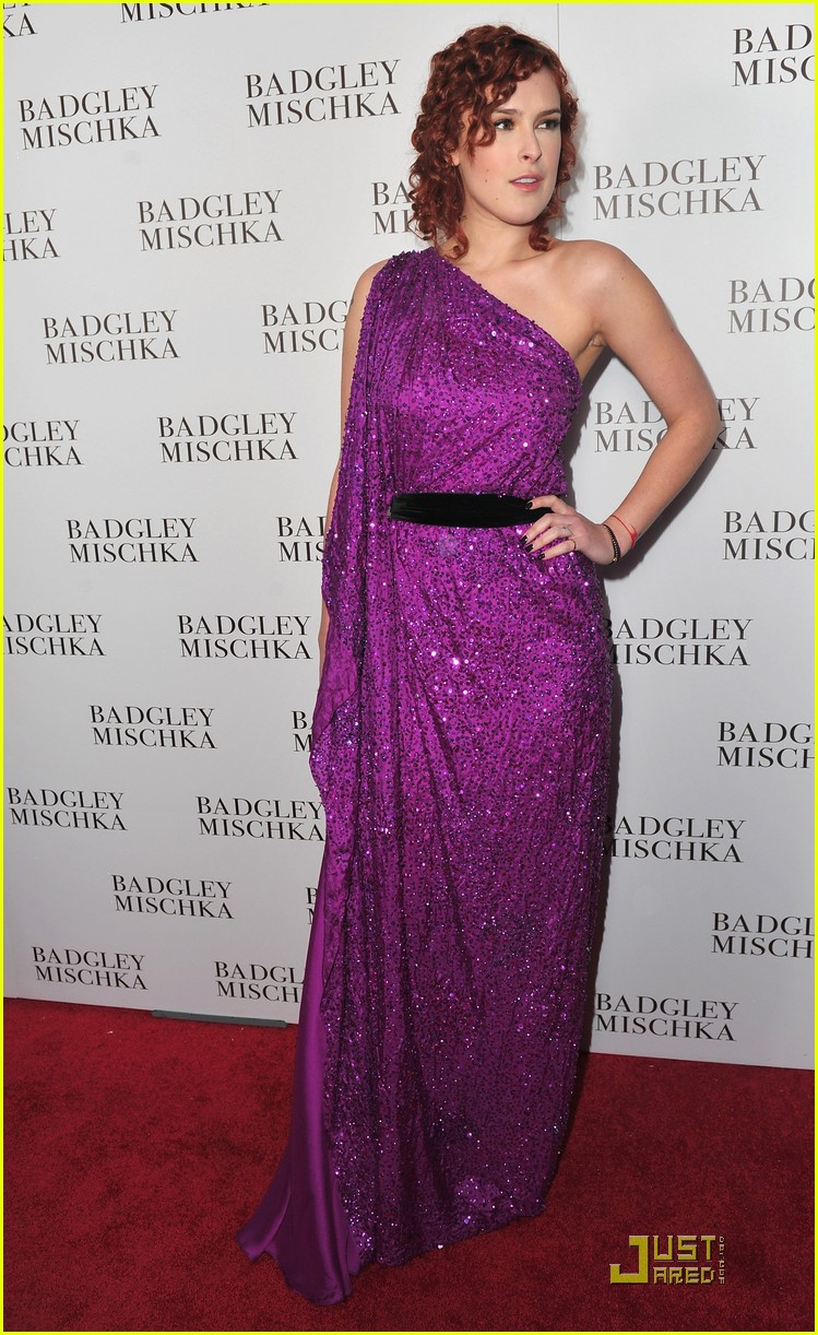 rumer willis badgley mischka flagship opening 092524715