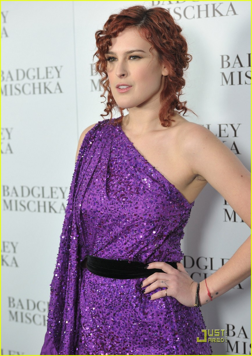 rumer willis badgley mischka flagship opening 12