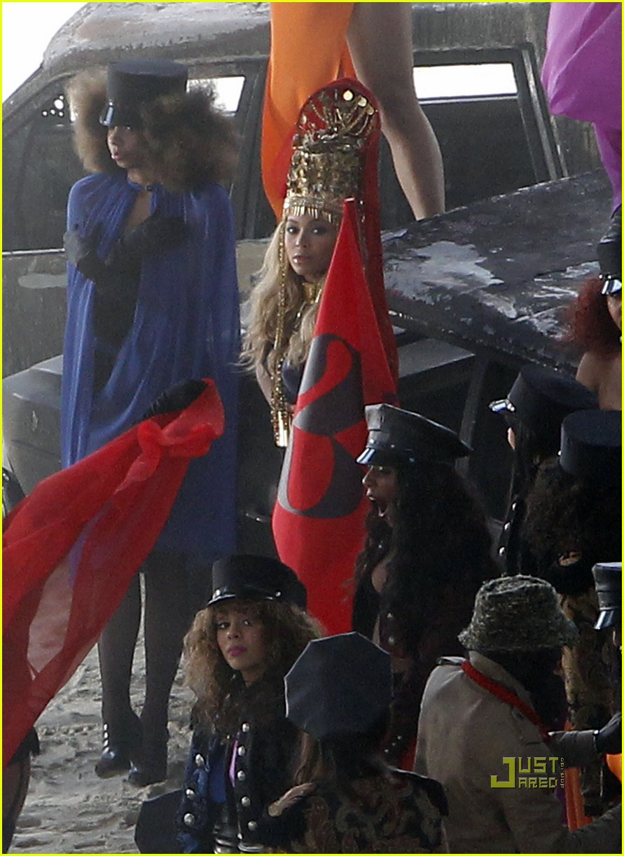 beyonce shooting music video 05