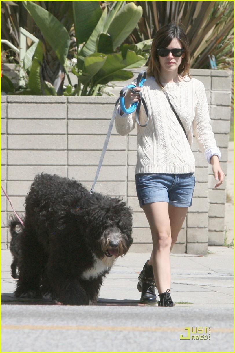 rachel bilson walks the dog 102535727