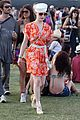 dita von teese orange dress coachella 09