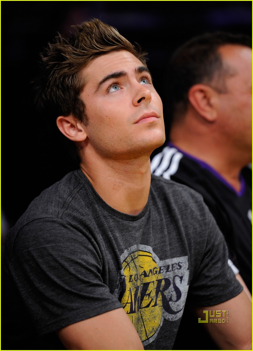 zac efron dylan lakers game 022537116