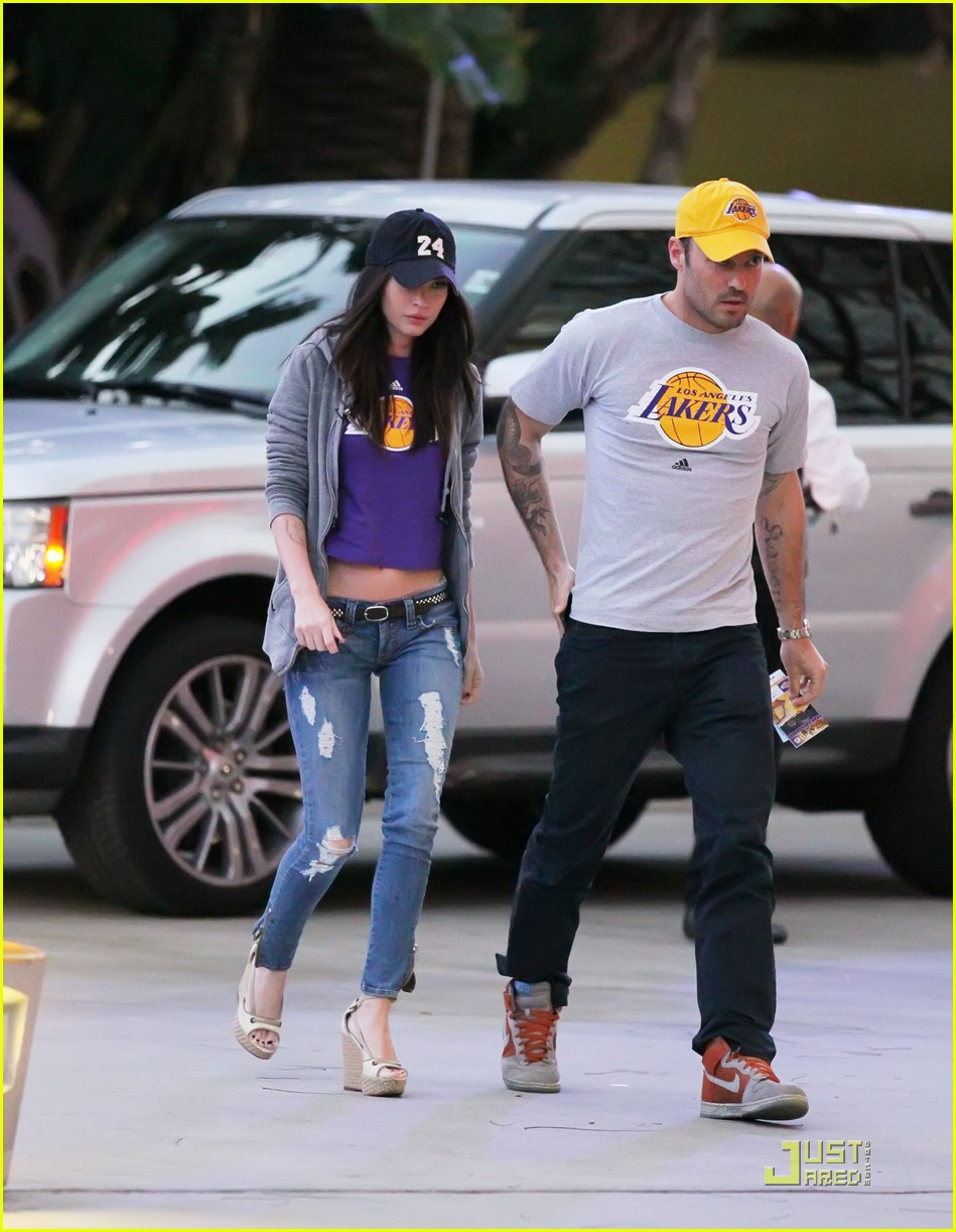 megan fox brian austin green lakers 01