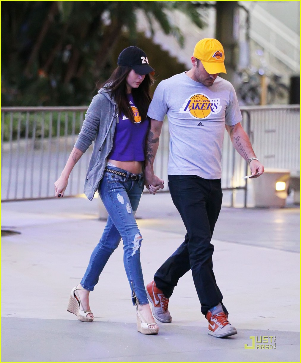 megan fox brian austin green lakers 022538599