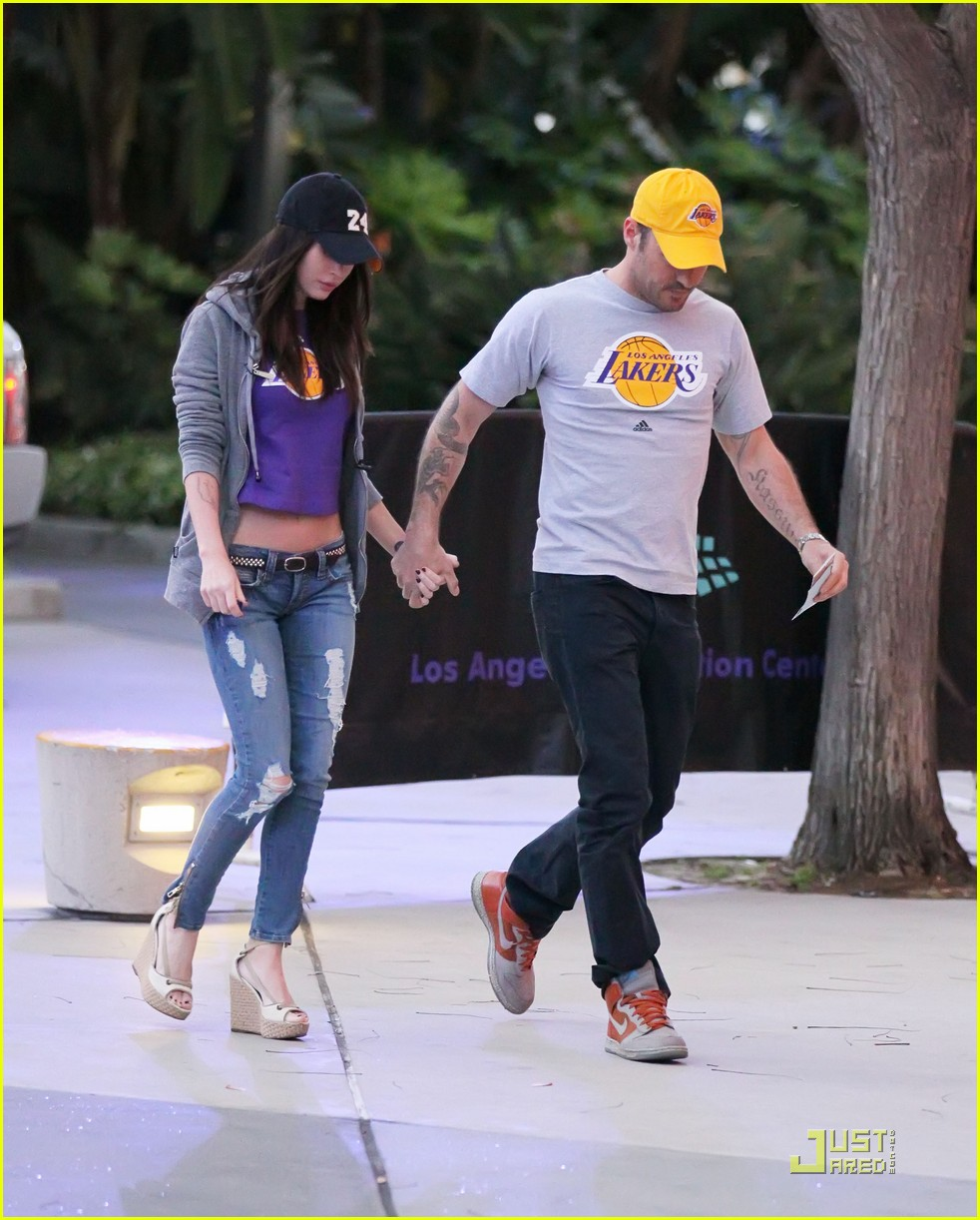 megan fox brian austin green lakers 052538602