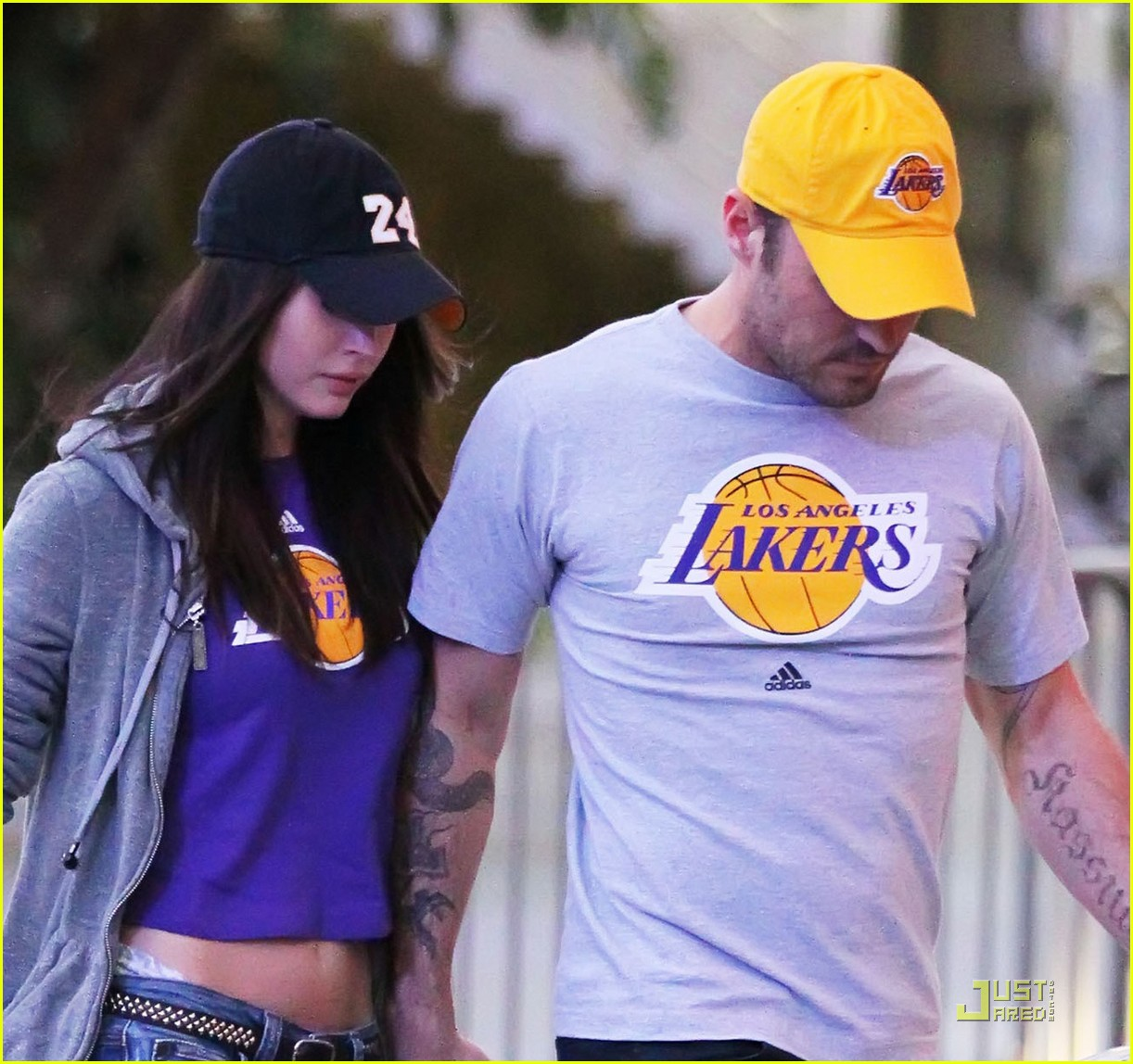 megan fox brian austin green lakers 102538607