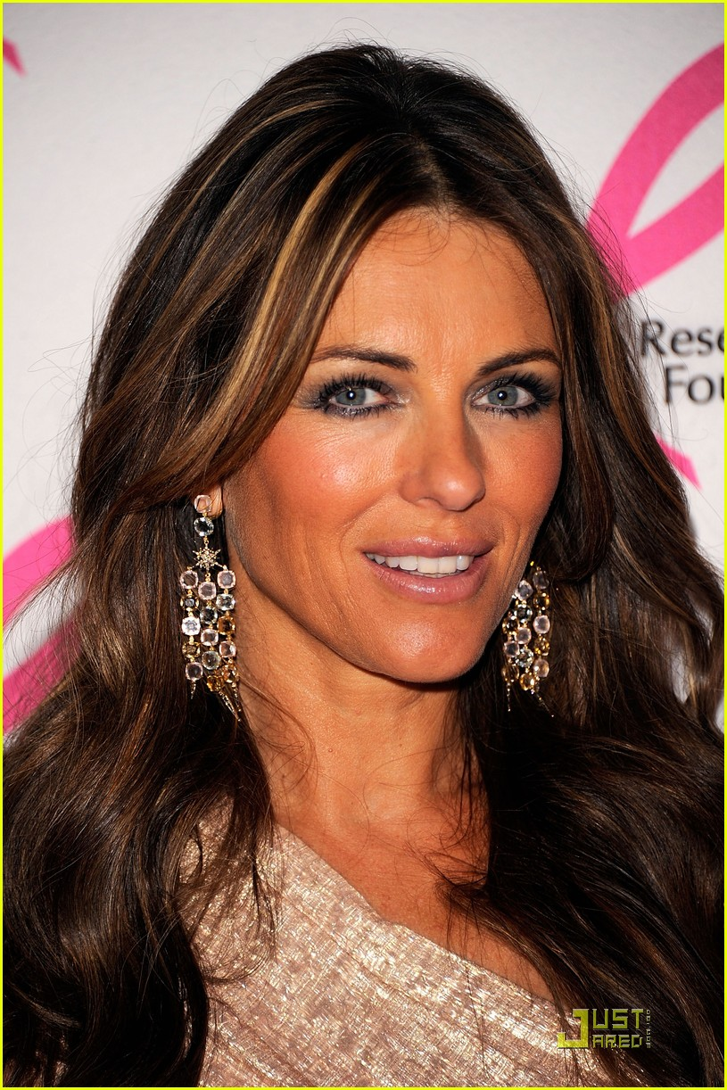 elizabeth hurley 2011 breast cancer research hot pink party 05