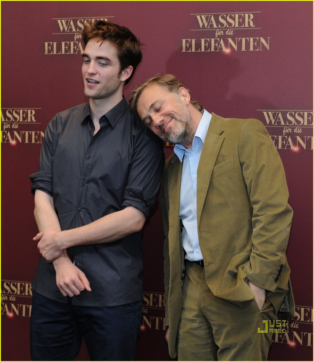 robert pattinson christoph waltz water for elephants photo call berlin 05
