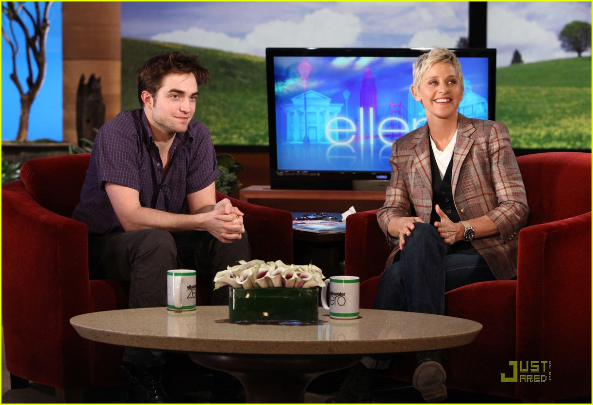 robert pattinson ellen degeneres