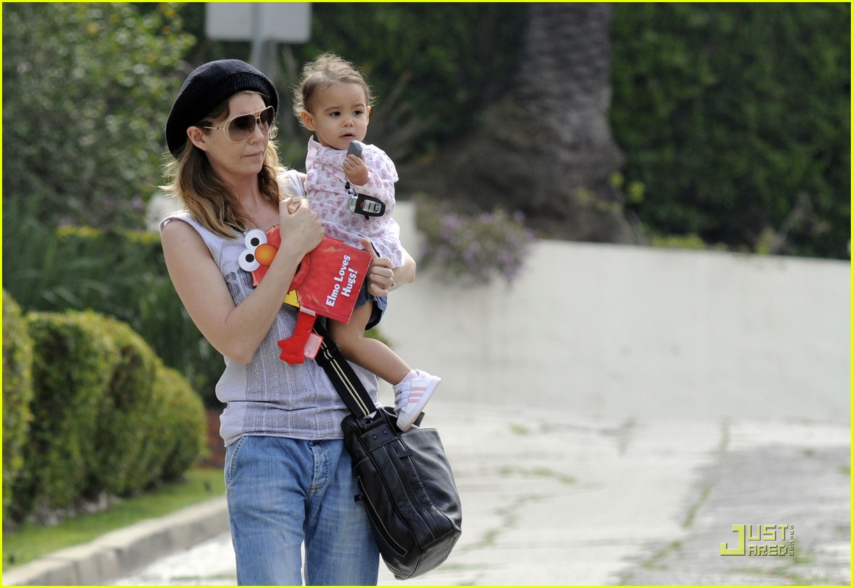 ellen pompeo day out with stella chris ivery 092532475