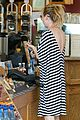 ellen pompeo coffee striped dress 07