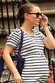 natalie portman baby bump striped tee 01