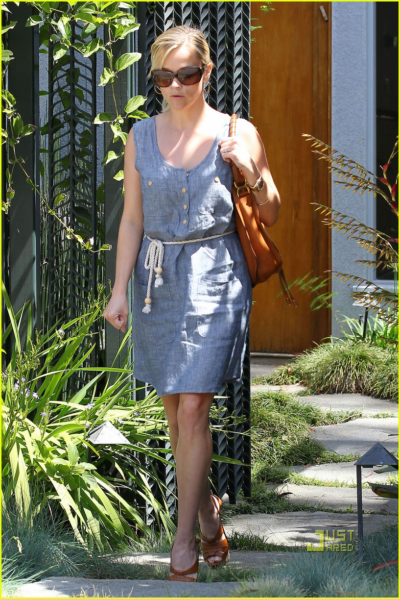 reese witherspoon rope belt dress 012535481