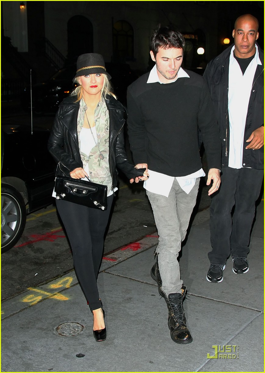 christina aguilera matthew rutler dinner nyc 05