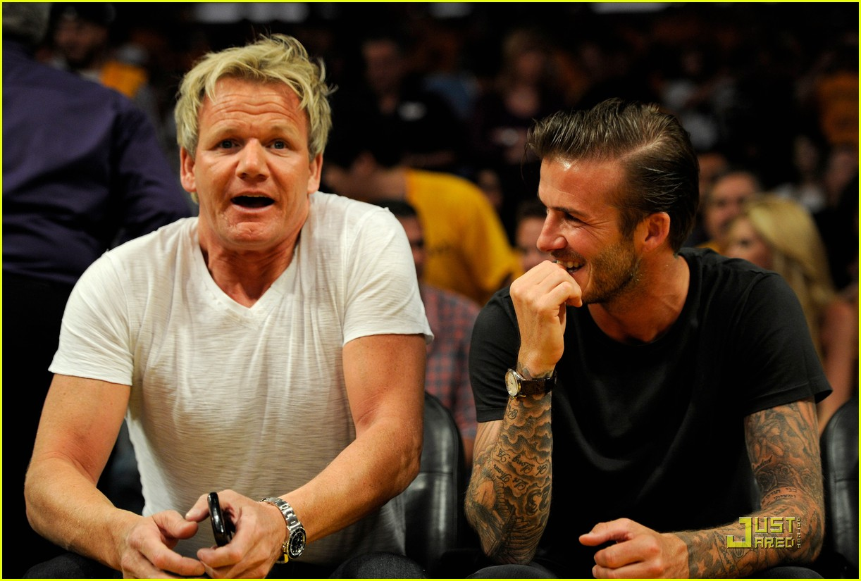david beckham gordon ramsay watch the lakers lose 012540667