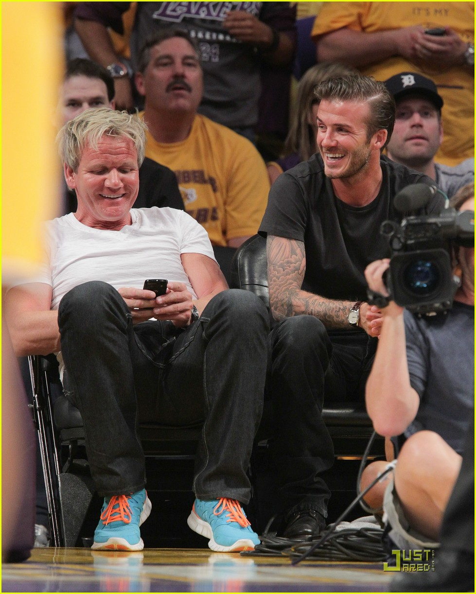 david beckham gordon ramsay watch the lakers lose 05