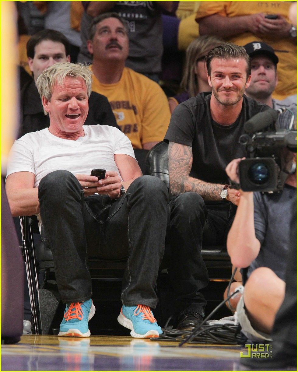 david beckham gordon ramsay watch the lakers lose 09