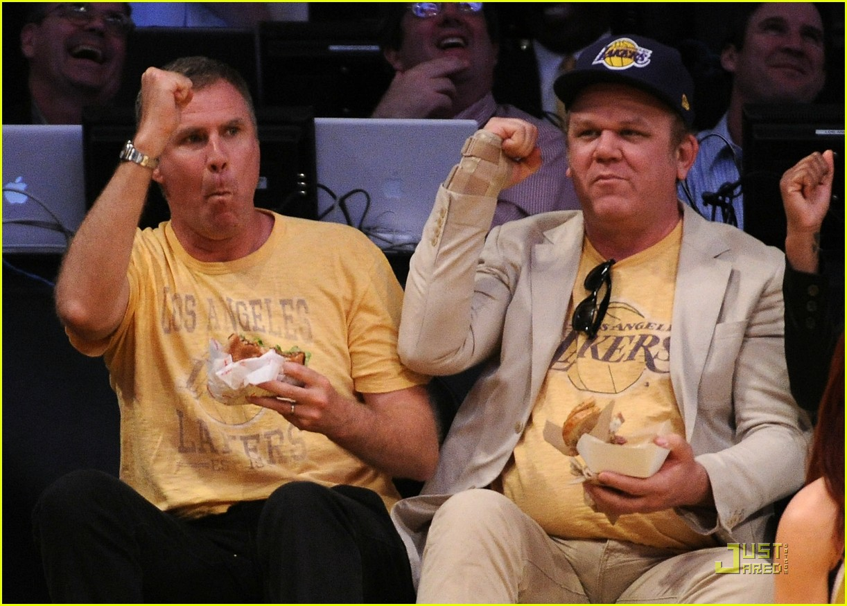 will ferrell john c reilly kiss lakers game 022540521
