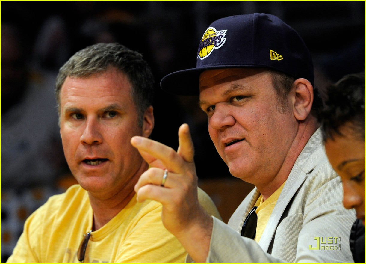 will ferrell john c reilly kiss lakers game 042540523