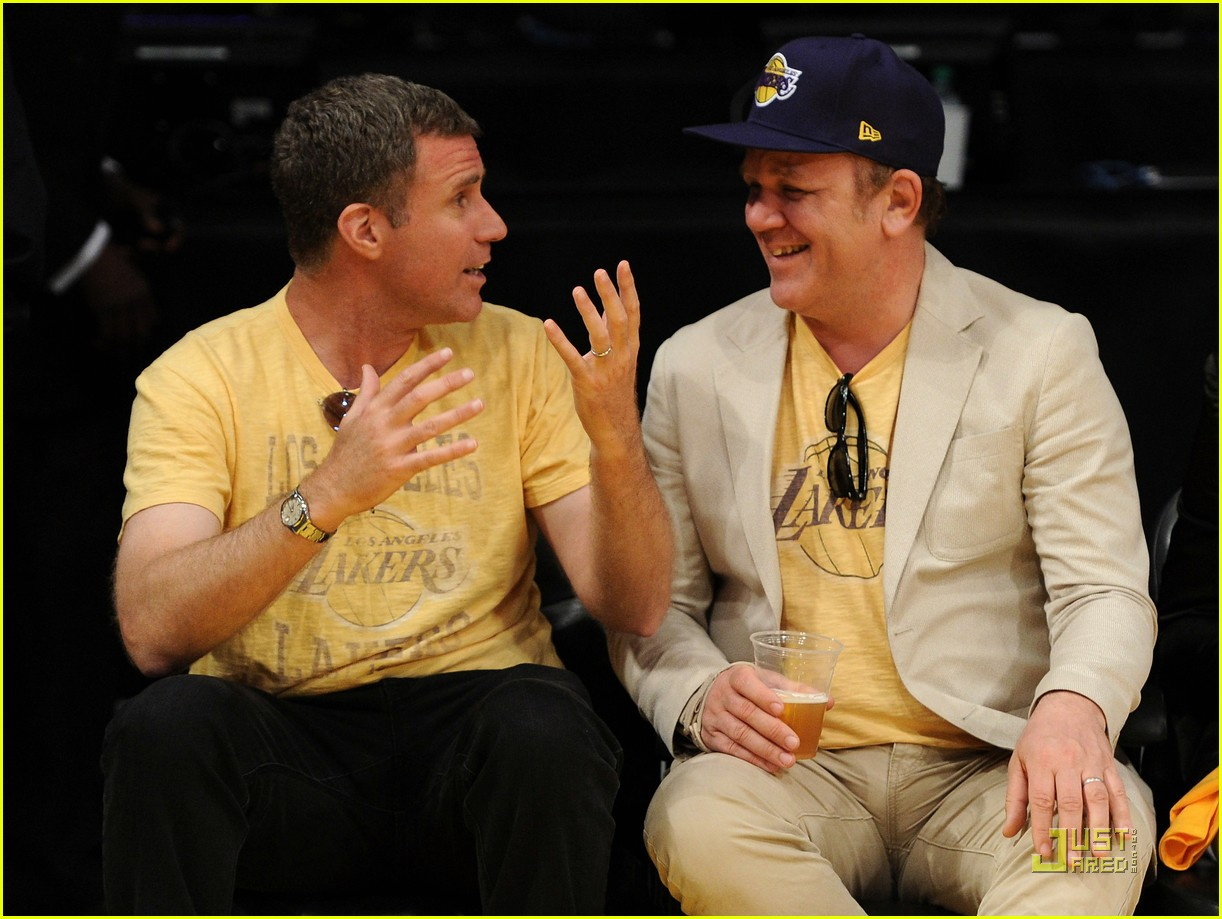 will ferrell john c reilly kiss lakers game 062540525