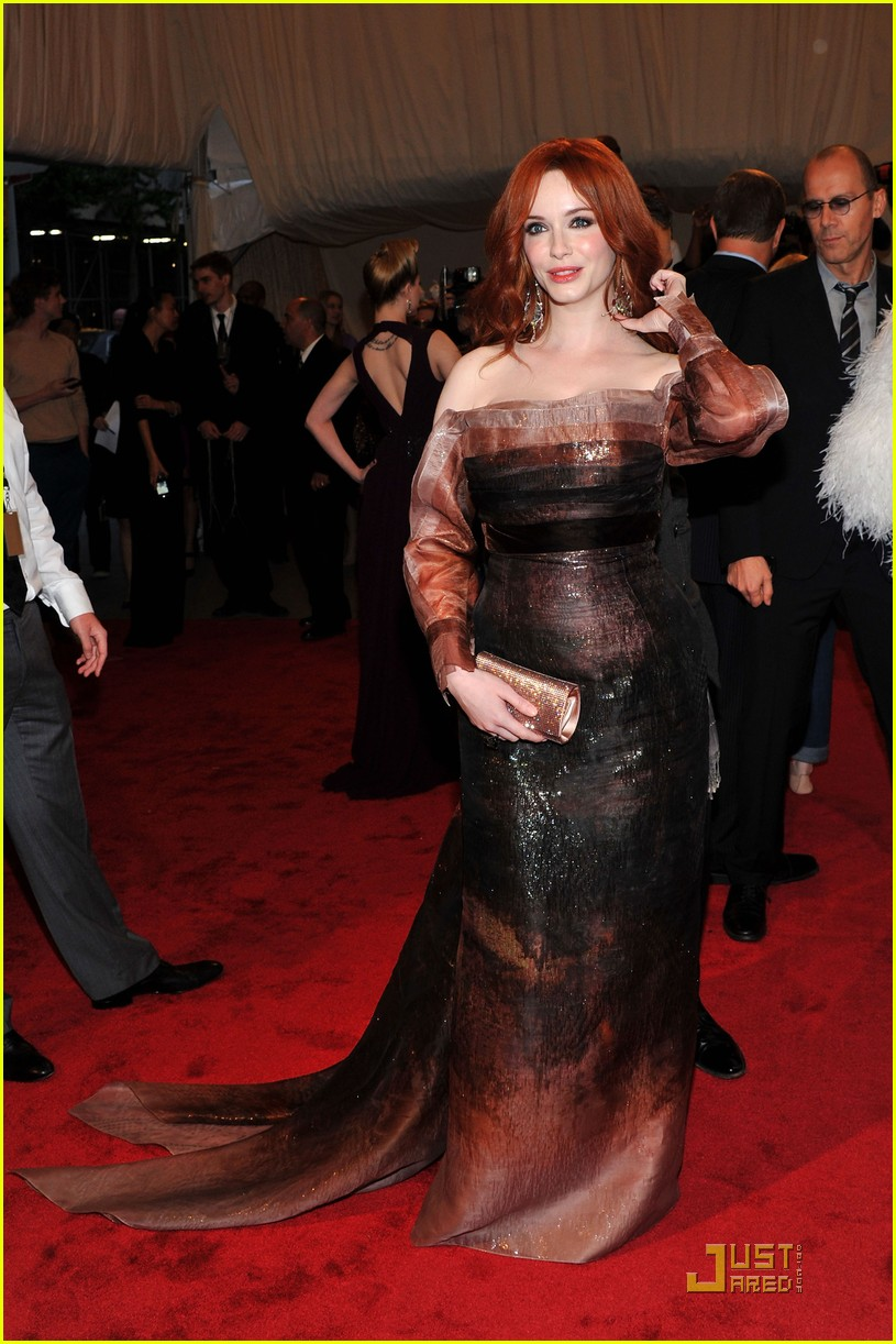 christina hendricks met ball 2011 052540291