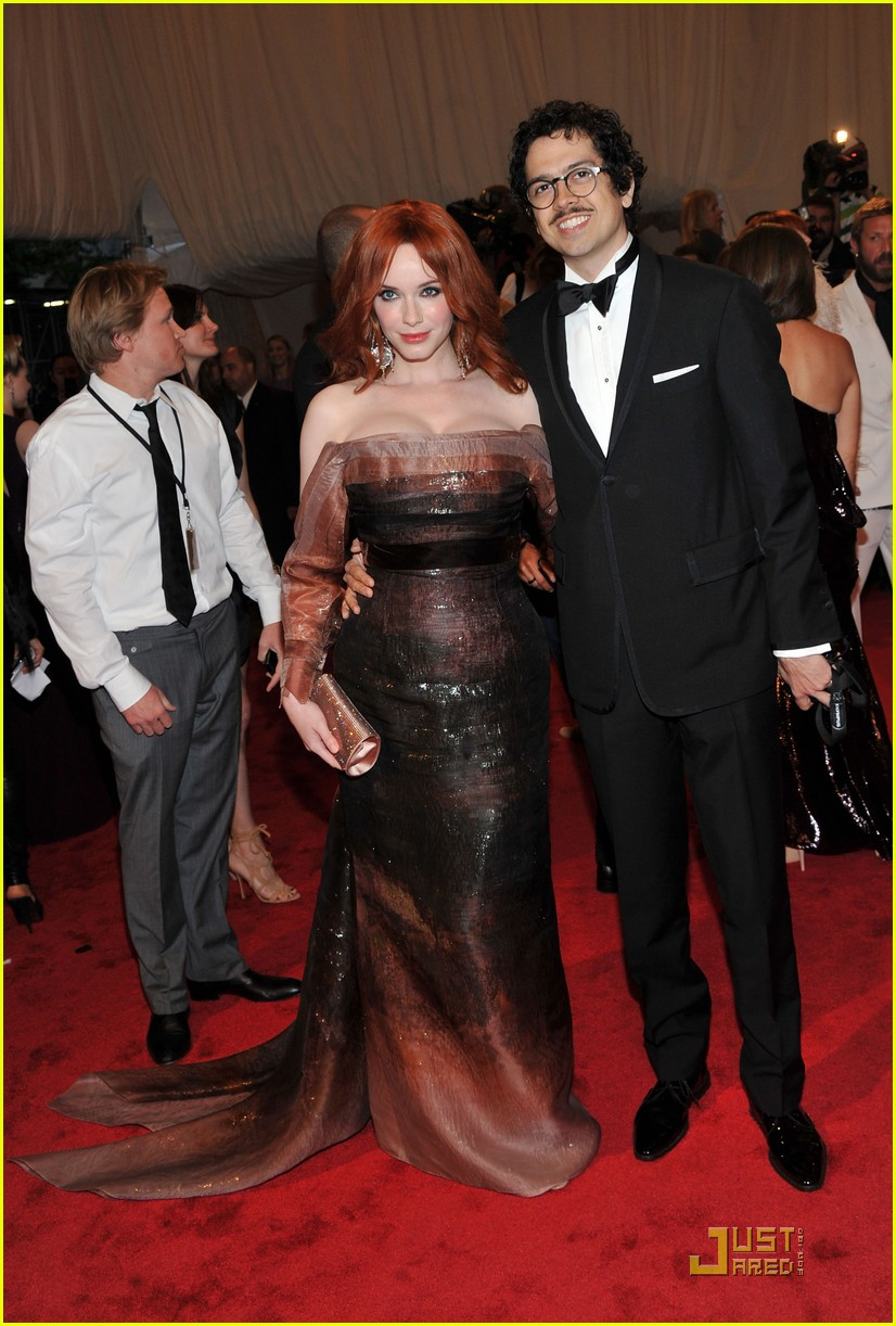 christina hendricks met ball 2011 09